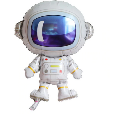 large astronaut balloon, birthday party,
