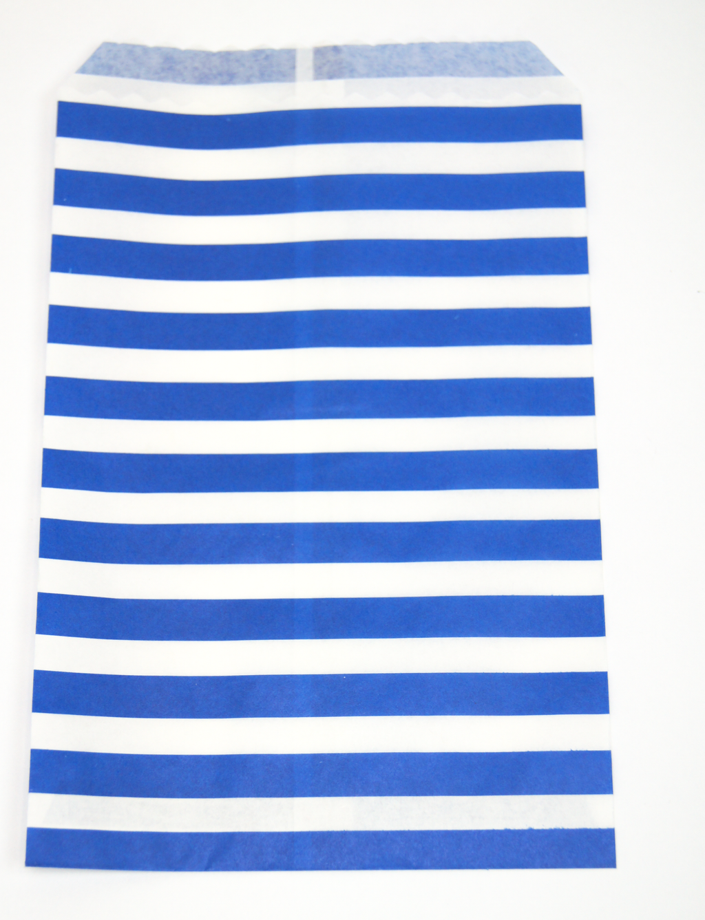 blue & white stripe paper favor bag - perfect for snacks - party supplies