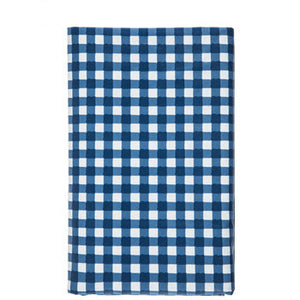 Blue Gingham Vinyl Tablecloth