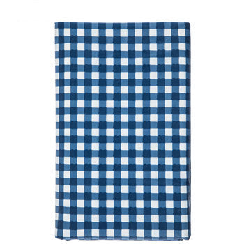 Blue gingham, ease wipe, clean, tablecloth
