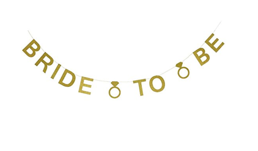Bride To Be Gold Banner Bridal Shower Bachelorette Engagement Sprinkles Confetti Party Boxes Party Supplies