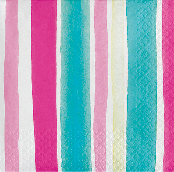 Fun Stripes Beverage  Napkin