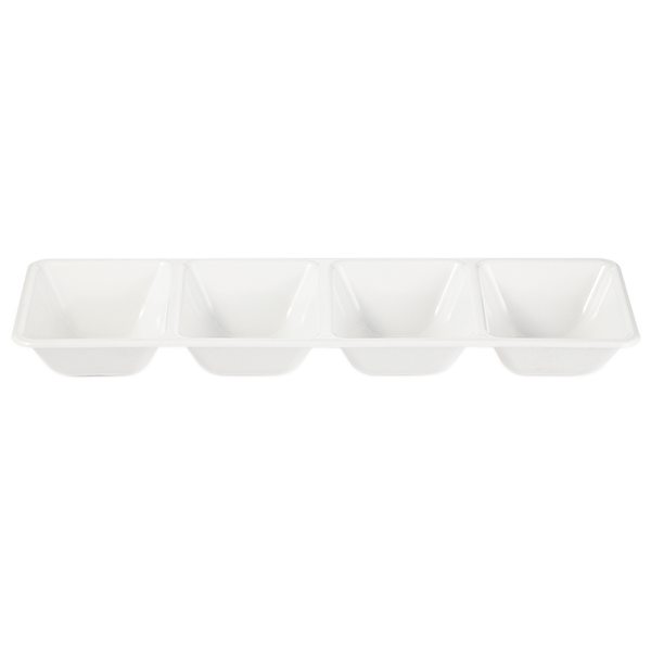 White Compartment Serving Tray
