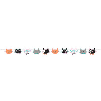 colorful cat birthday banner