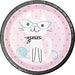 cute pink cat party plate