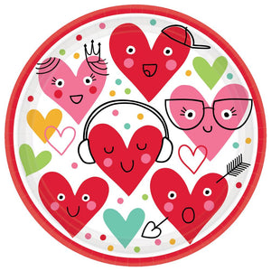 colorful heart, valentine plate
