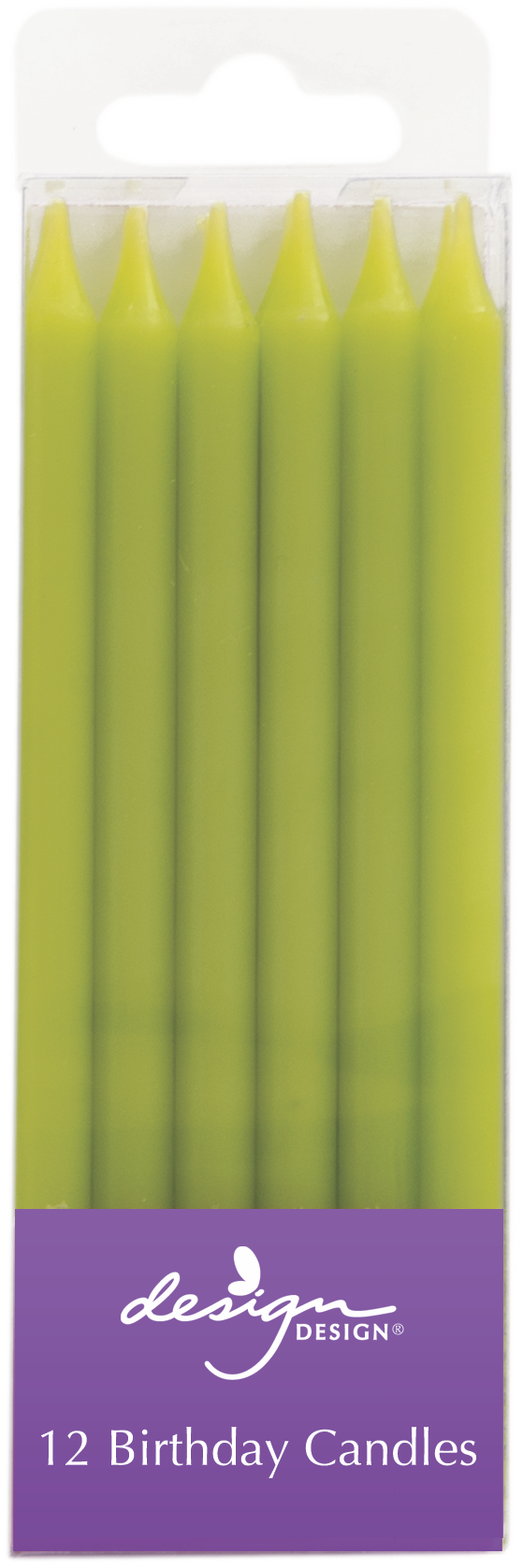 Tall Lime Green Birthday Candles