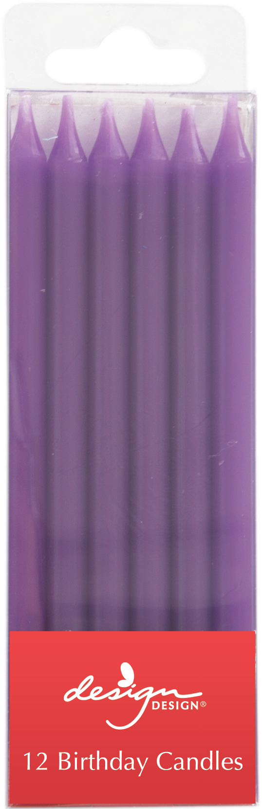 Tall Purple Birthday Candles