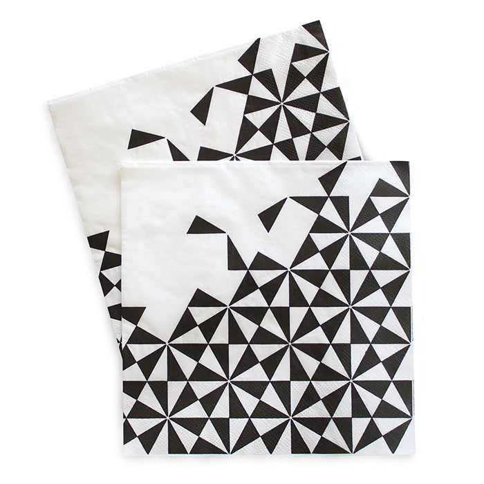 Black Geo Large Napkin