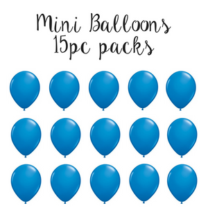 "15 mini 5"" dark blue latex balloons"