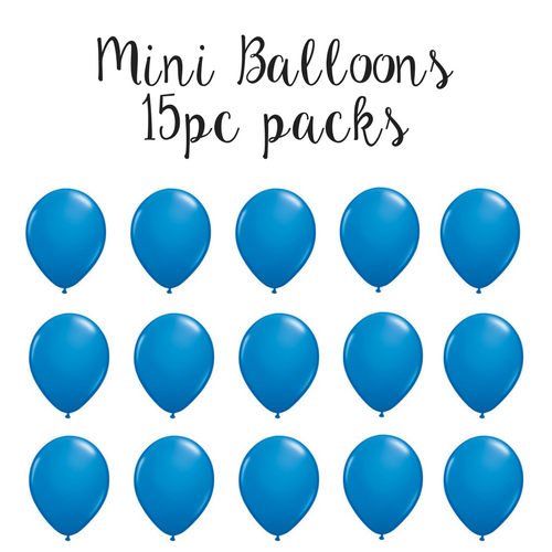 "5"" Mini Balloon 15pc Pack Dark Blue"