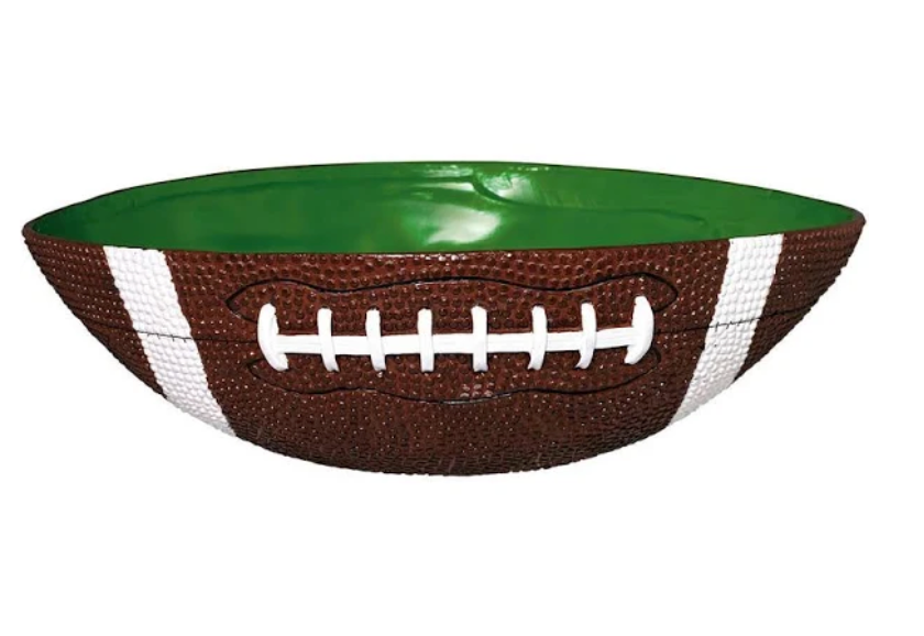 FOOTBALL TAILGATE SNACK PARTY BOWL