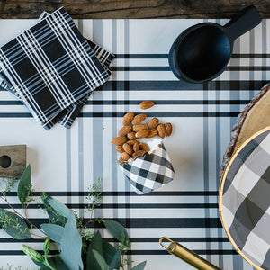 Cream Gingham Table Runner
