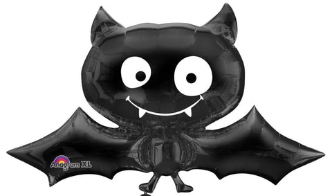 Friendly large halloween black bat balloon