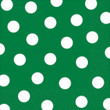 Green background with white dots party Napkin