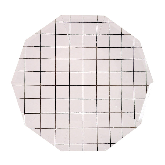 Silver Grid Plate