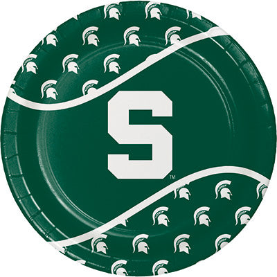 Michigan State Spartans Luncheon Plate on Green