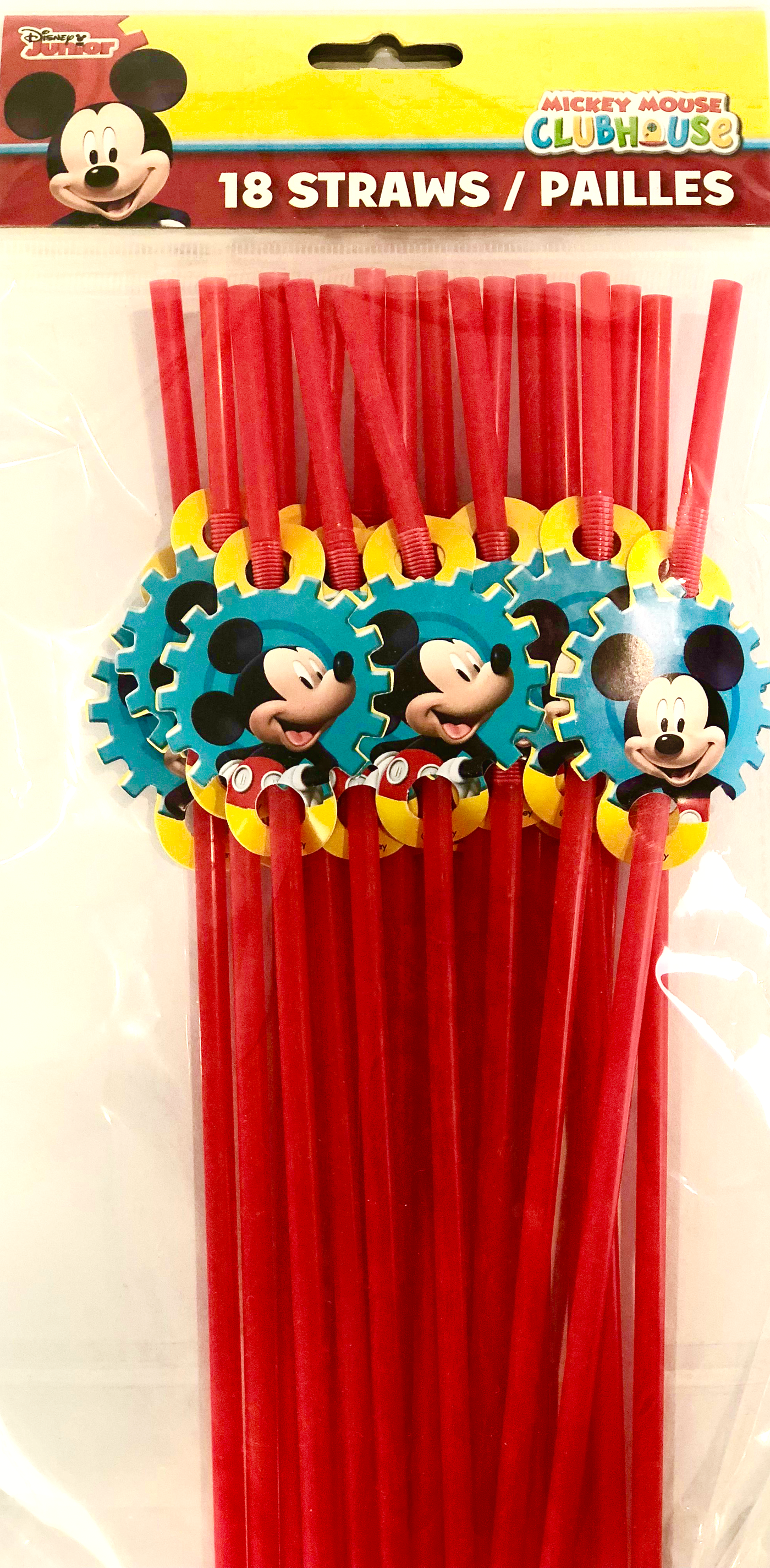 Mickey Mouse Party Straws