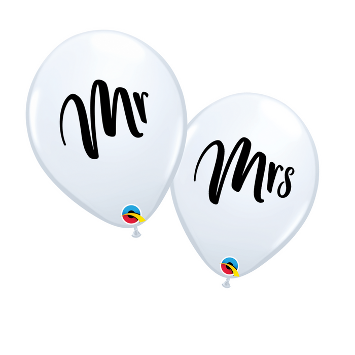 "11"" Mr. & Mrs. Latex Balloons (10 pack)"
