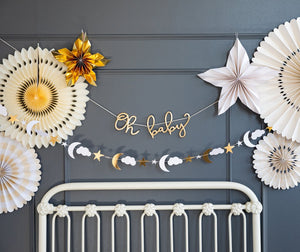 Oh Baby Gold Script Garland