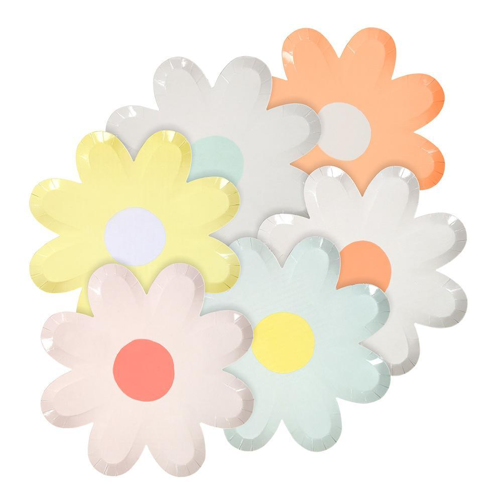 Colorful Daisy Flower Plates