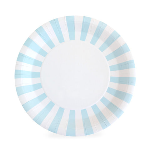 White Paper Eskimo dinner plate with light blue and white stripes around the border  sc 1 st  Sprinkles \u0026 Confetti : red and white striped paper plates - pezcame.com