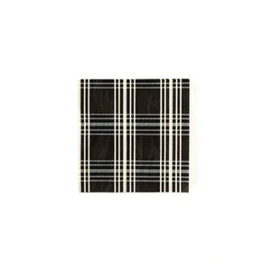 Black Gingham Cocktail Napkin