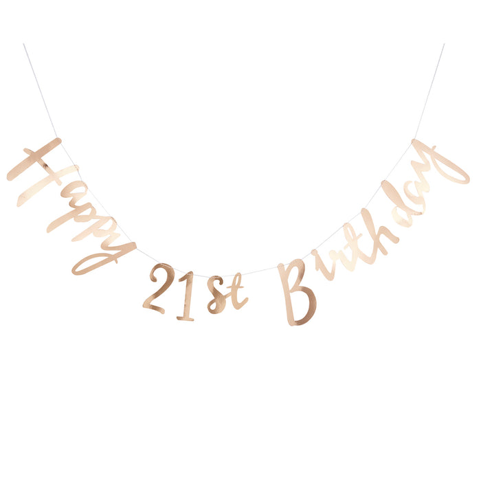 Gold 21st Birthday Banner