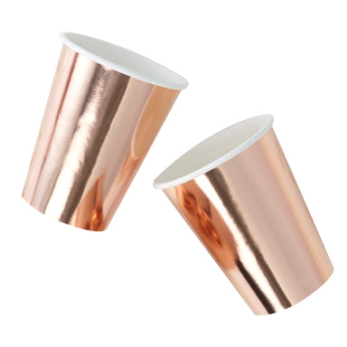 metallic pose gold paper cup, party favor