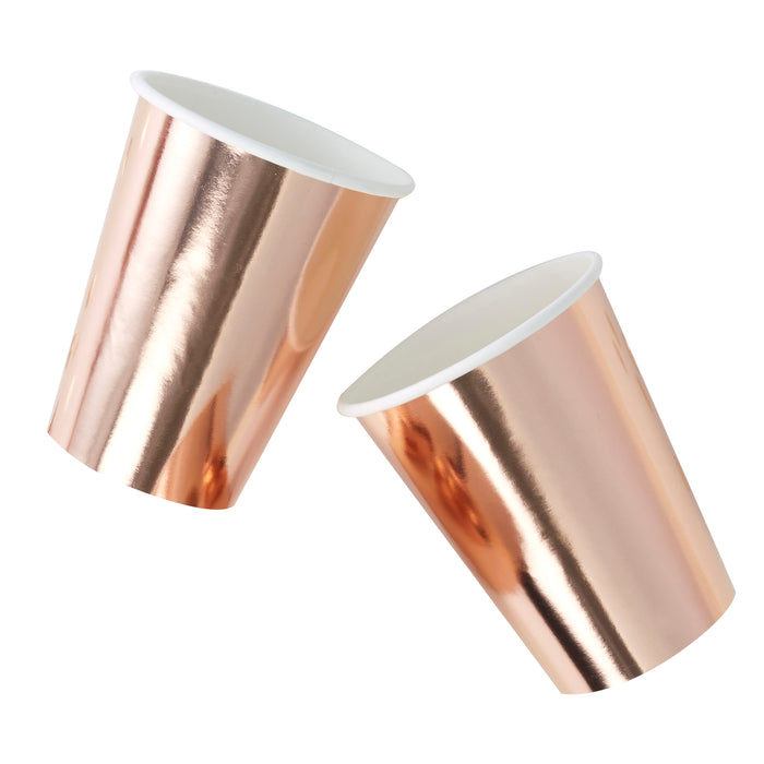 Rose Gold Foil Cups