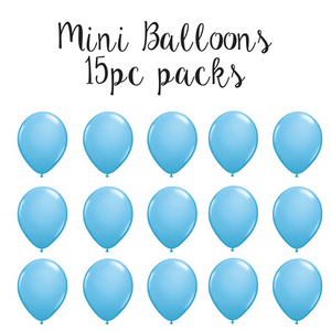 "5"" Mini Balloon 15pc Pack Pale Blue"