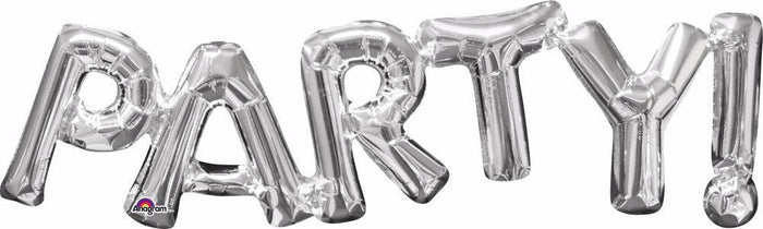 "33"" Party Balloon Kit Silver"