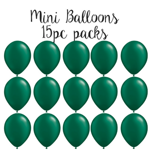 "5"" Mini Balloon 15pc Pack Pearl Forest Green"