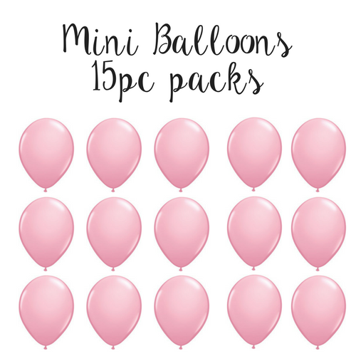 "15pc 5"" pink solid latex balloons - baby shower party decor - pink birthday party decor"