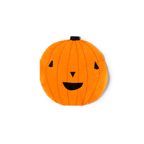 Orange Pumpkin  Halloween Napkin with happy pumpkin face | Kid Halloween Party | Adult Halloween Party