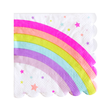 warm rainbow party napkins