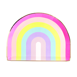rainbow shaped party plate