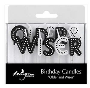 Older Wiser Birthday Candles