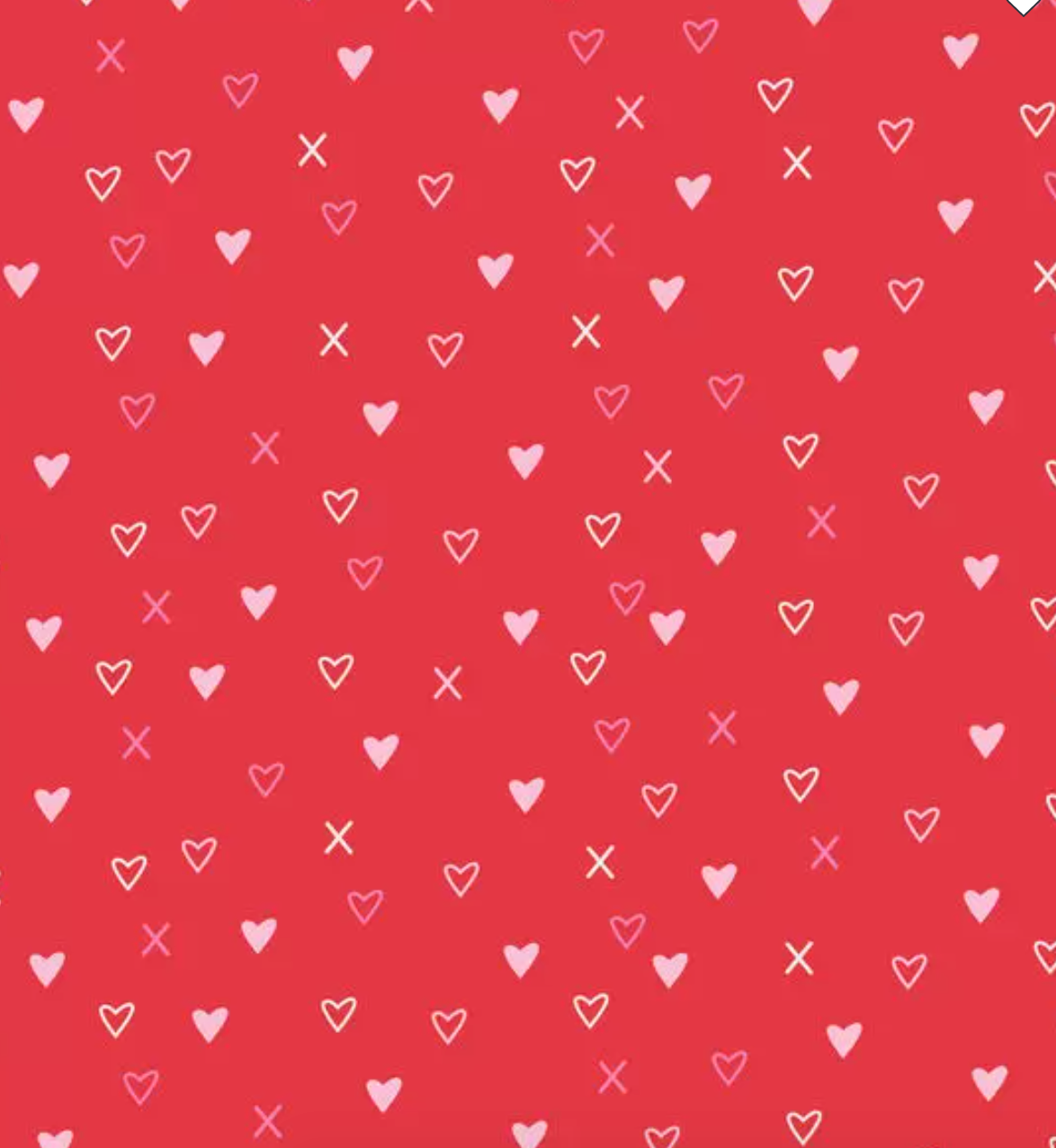 Red Heart Valentine Tablecloth