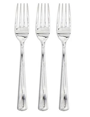 Silver Metallic Forks