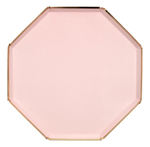 pale pink and gold dinner plate