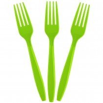 Solid Bright Green Forks