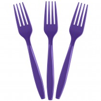 Solid Purple Forks