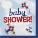 red and blue baby shower or birthday party fun Time Flies Napkins