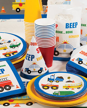 Emergency Vehicle Party Dessert Plate