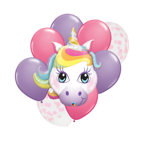 unicorn birthday balloon bundle
