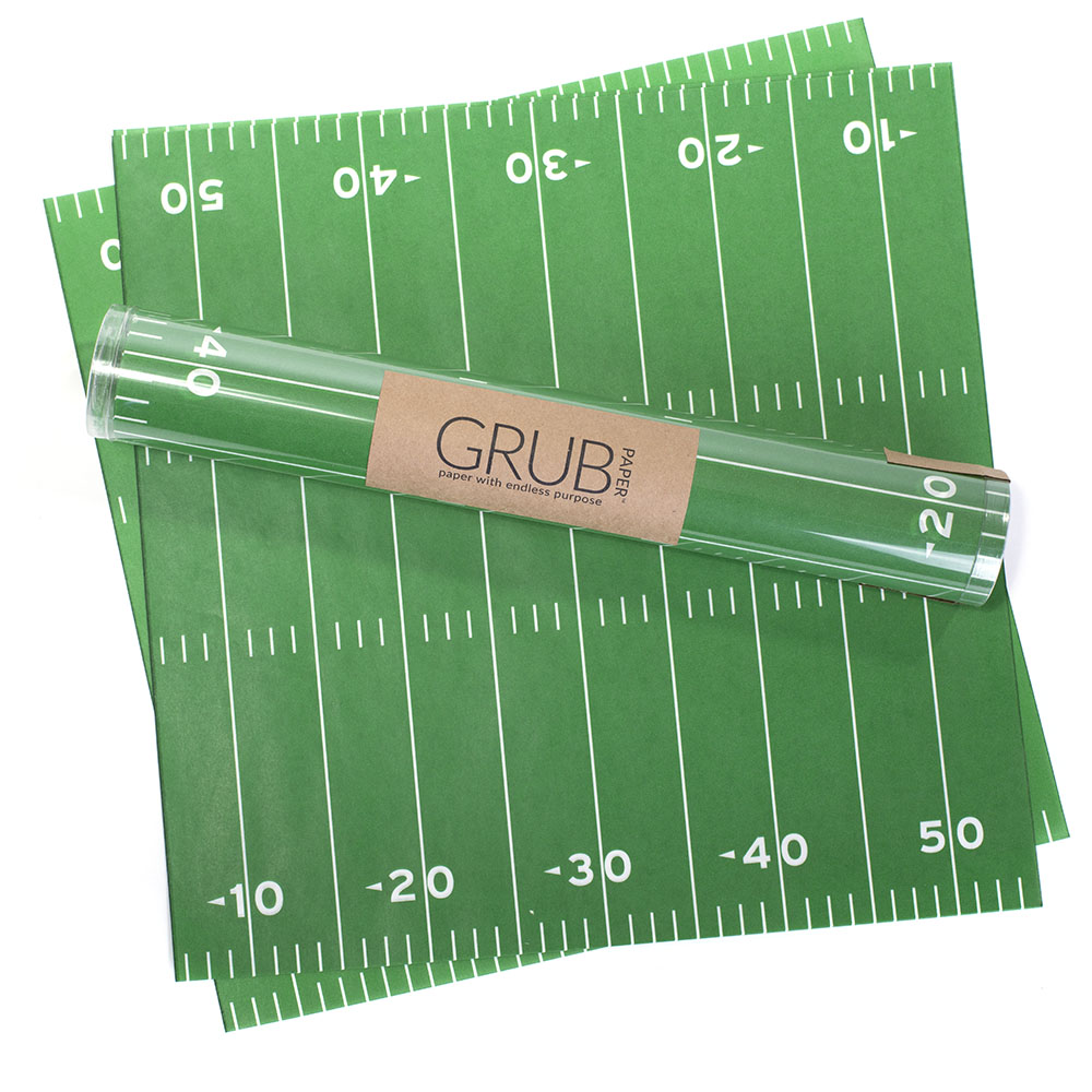 Football field 12x12 square paper with yard lines