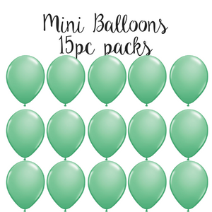 "5"" Mini Balloon 15pc Pack Wintergreen"