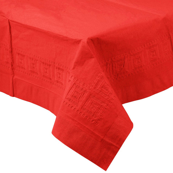 Solid Red Paper Tablecloth