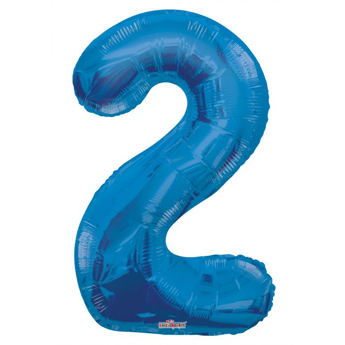 "34"" #3 Blue Foil Number Balloon"